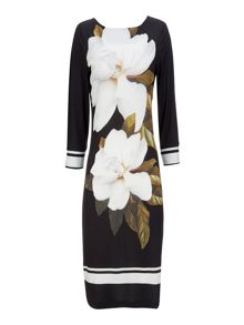 Wallis Black Large Floral Tunic Dress