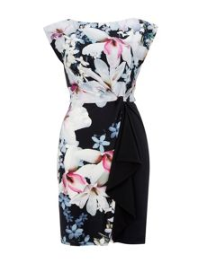 Wallis Black Floral Shift Dress