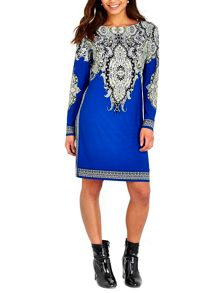 Wallis Blue Placed Paisley Tunic
