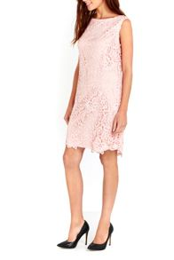 Wallis Blush New Crochet Lace Dress