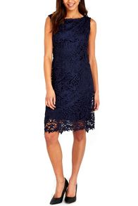 Wallis Navy New Crochet Lace Dress