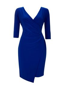 Wallis Blue Wrap Side Dress