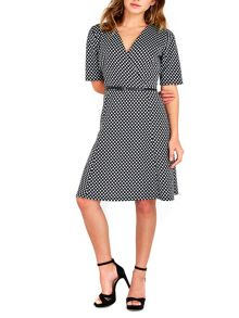 Wallis Monochrome Spot Shift Dress