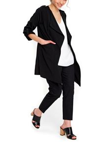 Wallis Petite Black Longline Jacket
