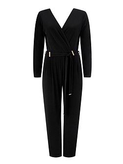 Black Bar Detail Jumpsuit