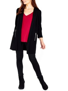 Wallis Black Zip Pocket Jacket