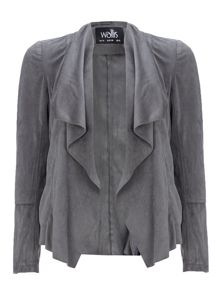 Wallis Suedette Waterfall Jacket