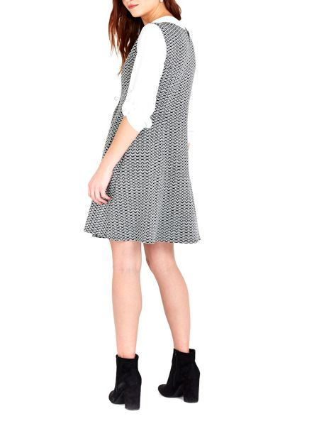Wallis Jacquard Fit and Flare Dress