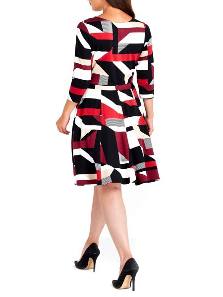 Wallis Print Fit and Flare Dress