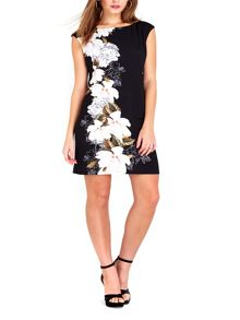 Wallis Petite Black Floral Side Tunic