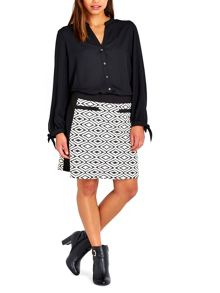Wallis Black A-line Skirt
