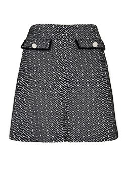 Monochrome Jacquard Skirt
