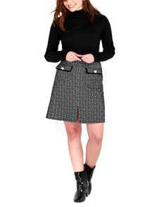Wallis Monochrome Jacquard Skirt