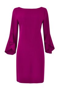 Wallis Pink Flute Sleeve Dress