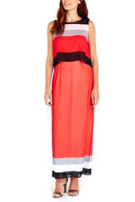 Wallis Red Colour Block Overlay Maxi