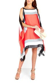 Wallis Orange Colour Block Kaftan Dress