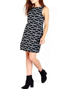 Wallis Monochrome Geometric Pinny