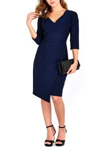 Wallis Navy Wrap Side Dress