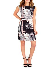 Wallis Black Linear Floral Tunic