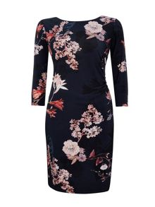 Wallis Navy Blossom Floral Dress
