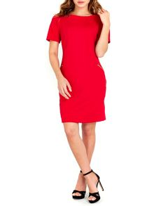 Wallis Red Textured Ponte Dress