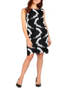 Wallis Mononchrome Crochet Lace Dress