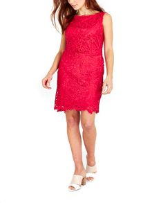 Wallis Pink Floral Crochet Lace Dress