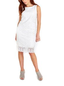 Wallis Ivory Geo Crochet Lace Dress
