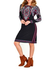 Wallis Black Placed Paisley Tunic