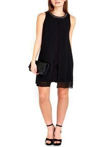 Wallis Petite Black Embellished Dress
