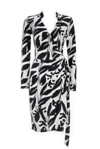Wallis Mono Leaf Wrap Dress
