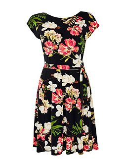 Pretty Garden Fit and Flare Dress