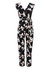 Wallis Black Asian Lily Jumpsuit