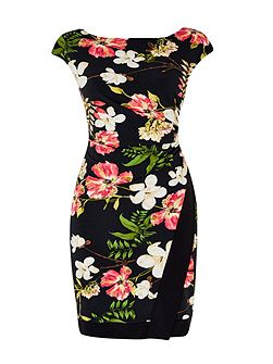 Pretty Garden Wrap Dress