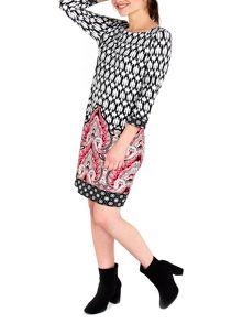 Wallis Black Ikat Paisley Tunic