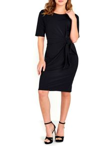 Wallis Black Shift Tie Side Dress