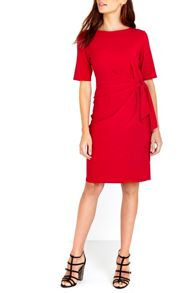 Wallis Red Shift Tie Side Dress