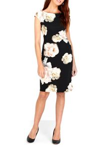 Wallis Black Pom Pom Ruche Side Dress