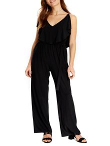 Wallis Black Ruffle Top Jumpsuit