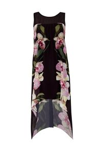Wallis Orchid Split Front Dress