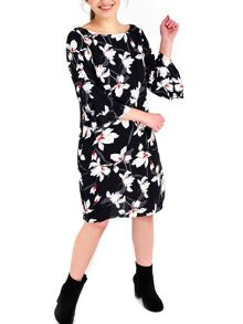 Wallis Black Asian Lily Tunic