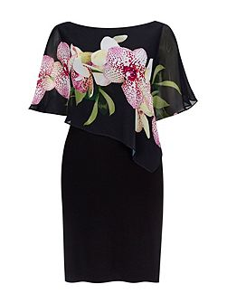 Black Orchid Asym Overylay Drs