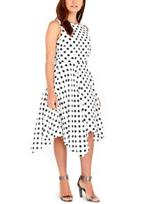 Wallis Gorgeous Ivory Spot Print Dress