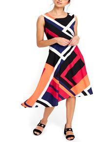 Wallis Colourblock Asymetric Dress