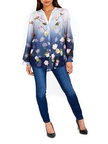 Wallis Ink Ombre Waterlily Shirt