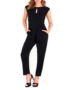 Wallis Black Fitted Jumpsuit