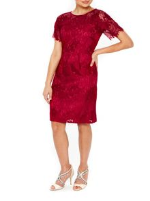 Wallis Red Stripe Lace Shift Dress