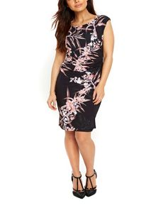 Wallis Fern Floral Wrap Dress