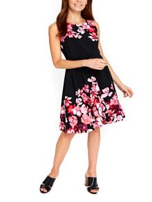 Wallis Pink Posie Fit And Flare Dress