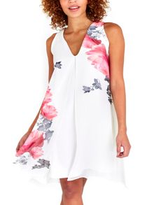 Wallis Ivory Rose Overlayer Dress
